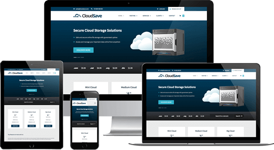 Cloud Save - WHMCS Template