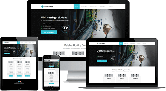 Flow Host - WHMCS Template