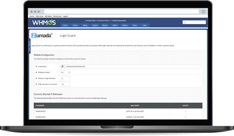 Login Guard for WHMCS - Administration Panel