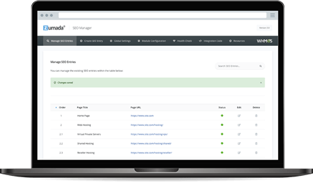Addon Home - SEO Manager for WHMCS